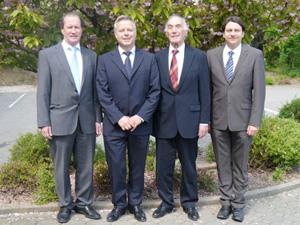KoCo-Gründungsmitglieder: v.r. Wolfgang Kern, Hubert Höger, Alexander Richter, Ulrich Smets